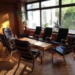Der Vorsaal mit Sitzmöglichkeit